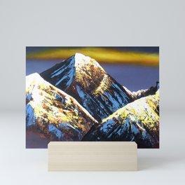 Panoramic Night View Of Everest Mountain Mini Art Print