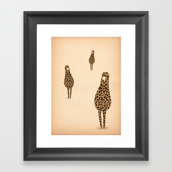 domanda mimetica Framed Art Print
