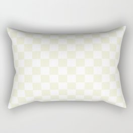Small Checkered - White and Beige Rectangular Pillow