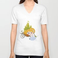 cinderella V-neck T-shirts featuring Cinderella by 7pk2 online
