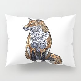 Stained Glass Fox Pillow Sham