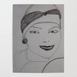 the woman in the beret Poster