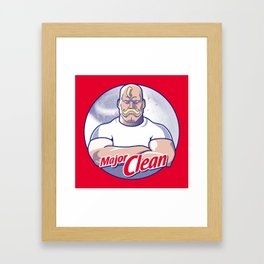 Major Clean Framed Art Print