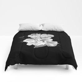 geranium in bw Comforters