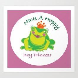 Frog Princess Art Print