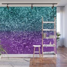 Purple Teal MERMAID Girls Glitter #1 #shiny #decor #art #society6 Wall Mural