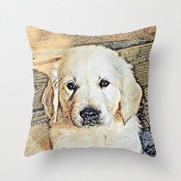 Impressive Animal - Cute Puppy Throw Pillow