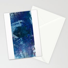 Cosmic fish, ocean, sea, under the water Stationery Cards