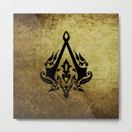 Creed Assassins Grunge Logo Metal Print