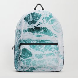 Water, Sea, Ocean, Wave, Blue, Nature, Modern art, Art, Minimal, Wall art Art Print Backpack