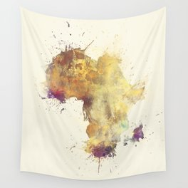Africa map 5 #africa Wall Tapestry