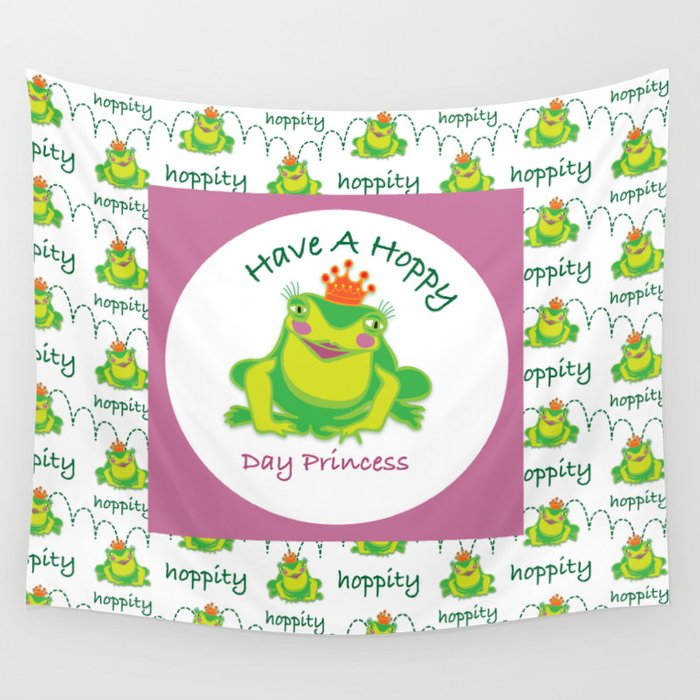 Frog Princess Wall Tapestry