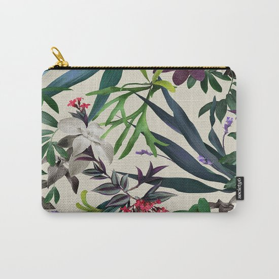 Tropical leaf pattern II Carry-All Pouch