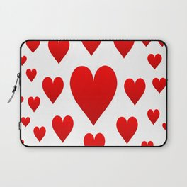 LOTS OF RED LOVE HEARTS FROM SOCIETY6 Laptop Sleeve