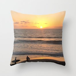 The Last Surf Throw Pillow