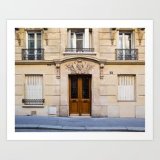 PARIS DOORS: NO. 6 (Paris, France) Art Print