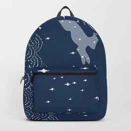Night sky, bunny in the moon Backpack