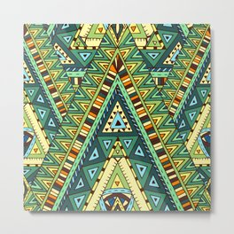 Native ornament pattern Metal Print
