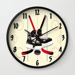 Hockey art Wall Clock