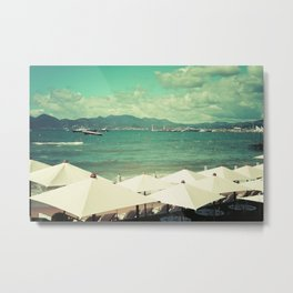 Private beach in Cannes - French riviera Metal Print