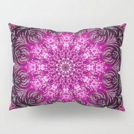 Pink Firework Mandala Pillow Sham