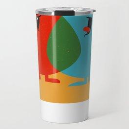 Hello Old Chum   Illustration of Friendship Travel Mug
