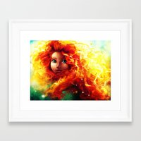 brave Framed Art Prints featuring Brave by Peach Momoko