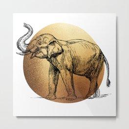 Elephant,Elephants,Animals,Wild Animals,Wildlife,Gold,Home Decor,Digital,Gifts,Elmsstudios Metal Print