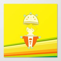 persona 4 Canvas Prints featuring Teddie - Persona 4 by Jarvis Glasses