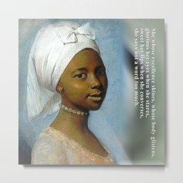 African Beauty Tote Metal Print
