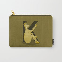 Pony Monogram Letter K Carry-All Pouch
