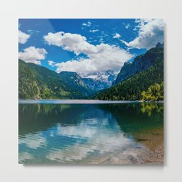 Mountain Valley Lake Metal Print
