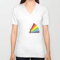 floyd V-neck T-shirts featuring Mr. Floyd by Blaz Rojs