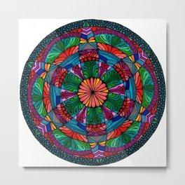 Mandala Daisy Metal Print