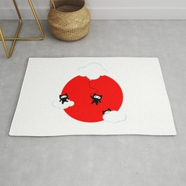 Ninja cats in the sky (Japanese edition) Rug