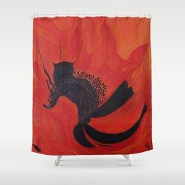 Dancing Poppy Shower Curtain