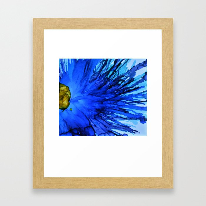 Cobalt Splash Framed Art Print