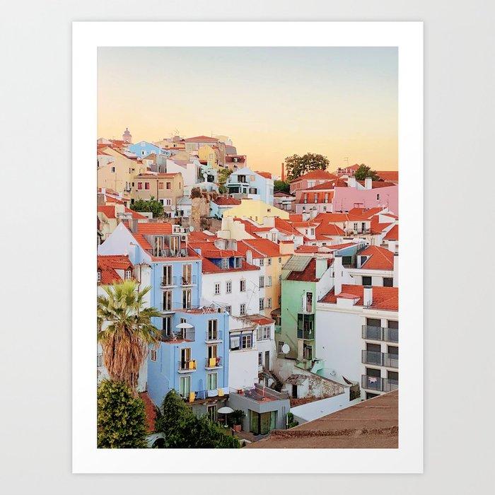 Lisbon sunset Kunstdrucke