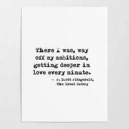 Deeper in love - F Scott Fitzgerald Poster
