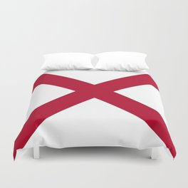Flag of Alabama-Alabaman,south,birmingham,Montgomery,Jazz,blues,countryside,bible belt,cotton,usa,us Duvet Cover