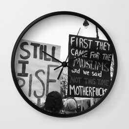 women's march philly Wall Clock
