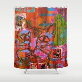 Kitty Castle Shower Curtain