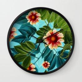 Tropical flowers Hawaii Wall Clock