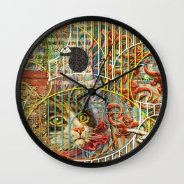 Prioritizing the Preservation of Favoured Struggles: Our Mesmerizing Bucket of Worms Wall Clock