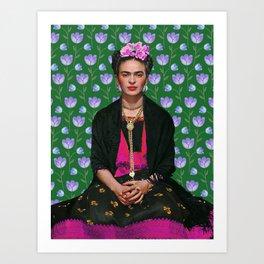 Flowers Frida Kahlo I Art Print