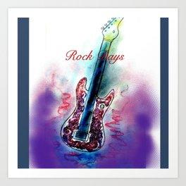 ANALOG zine -Rock Days *electric guitar* Art Print