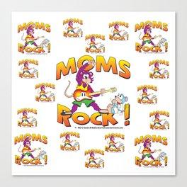 Moms Rock Pattern Canvas Print