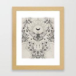 Bohemian Luna Moth Framed Art Print