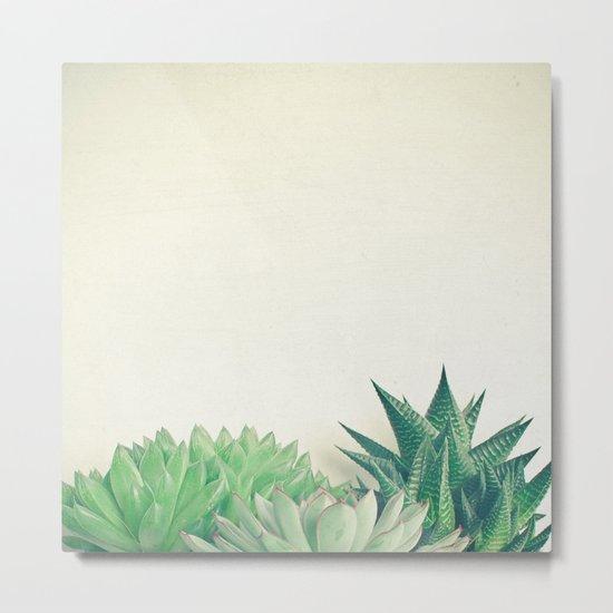 Succulent Forest Metal Print