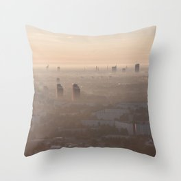 metropolis awakes Throw Pillow